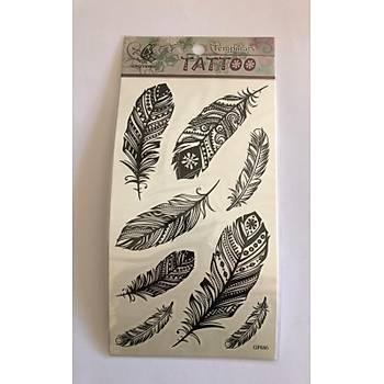 Tüyler Yapýþtýrma Sticker Dövme Geçici Dövme Temporary Tattoos