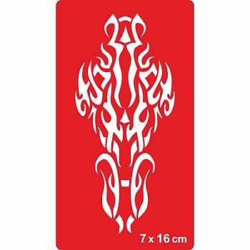 Tribal 207 Dövme Þablonu Kýna Deseni