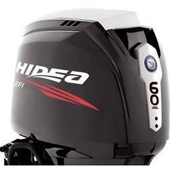 HIDEA  60 HP Uzun Şaft  Marşlı Trimli Direksiyonlu Deniz motoru-HDEF60FEL-T