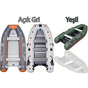 KOLIBRI  KM-400DSL GRİ ( PROFESYONEL SERİSİ ) Ahşap tabanlı şişme bot