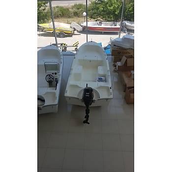 SAFTER 465  TEKNE VE SUZUKİ 30 HP MANUEL DENİZ MOTORU HAZIR VAZİYETTE