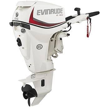 EVINRUDE E-TEC  25 HP UZUN ŞAFT MANUEL DENİZ MOTORU-E25DRSL/E25DRGL