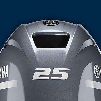 YAMAHA F 25 HP 4 ZAMANLI UZUN ÞAFT MANUEL DENÝZ MOTORU-F25GMHL-YENÝ MODEL