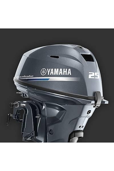 YAMAHA F 25 HP 4 ZAMANLI KISA ÞAFT MANUEL DENÝZ MOTORU-F25GMHS-YENÝ MODEL