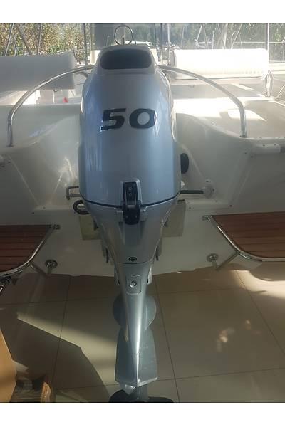 SAFTER 500 SPORT  TEKNE VE HONDA 50 HP DÝREKSÝYONLU MARÞLI TRÝMLÝ DENÝZ MOTORU HAZIR VAZÝYETTE