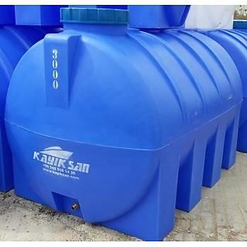 500 lt yatık mavi su deposu