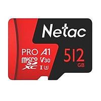 Netac 512G MicroSDXC V30/A1/C10 NT02P500PRO-512G-R