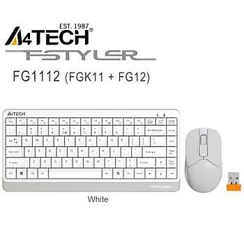 A4 Tech FG1112 Q Kablosuz Mini Klavye Mouse Beyaz