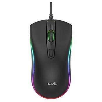 Havit MS72 Siyah Kablolu RGB Mouse