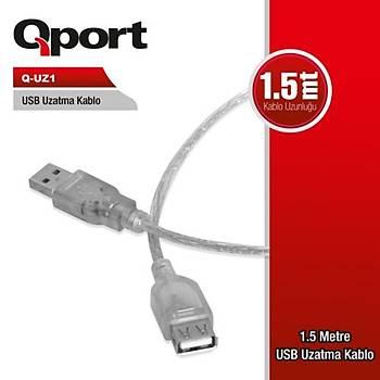 Qport Q-UZ1 1,5M USB 2.0  Uzatma Kablosu