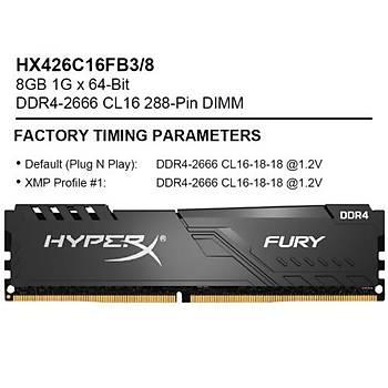 Kingston-HyperX 8GB 2666MHz CL16 D4 HX426C16FB3/8