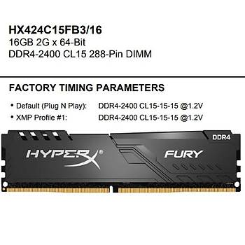 Kingston-HyperX 16GB 2400MHz DDR4 HX424C15FB3/16