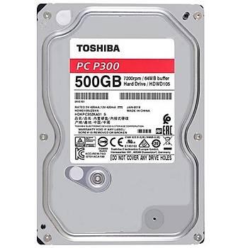 TOSHIBA 3.5 500GB P300 7200RPM HDWD105UZSVA