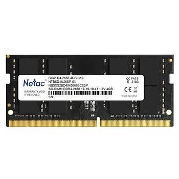 Netac Basic NTB 4GB 2666MHz DDR4 NTBSD4N26SP-04