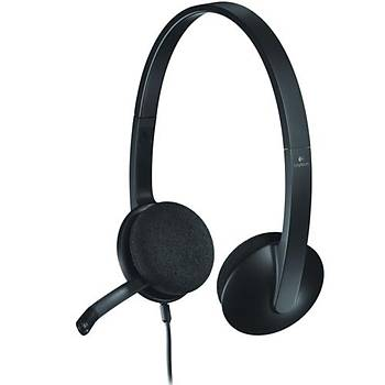 Logitech H340 Mikrofonlu Kulaklýk Siyah 981-000475