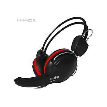 Frisby FHP-235 Mikrofonlu Kulaklýk Siyah-Kýrmýzý