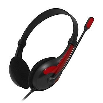 Frisby FHP-125R Mikrofonlu Kulaklýk Siyah-Kýrmýzý