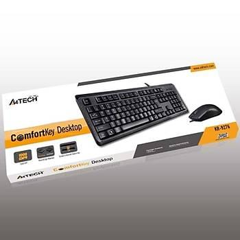 A4 Tech KR-9276 USB Klavye Mouse Set MM Siyah