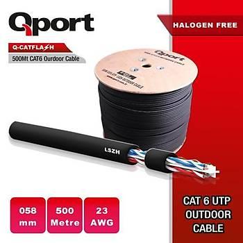 Qport Q-CATFLASH 23AWG CAT6 500mt LSZH Outdoor Kab