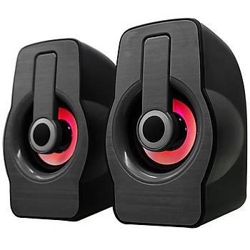 Snopy SN-X23 RGB Iþýklý 3W*2 Syh/Krmz USB Speaker