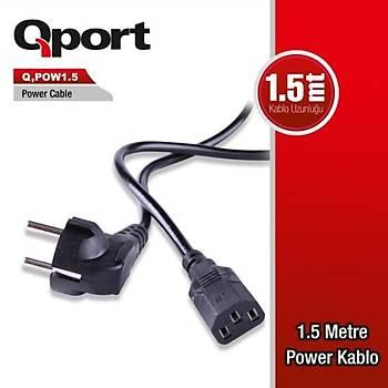 Qport Q-POW1.5 PC Power Kablosu 1.5 Metre