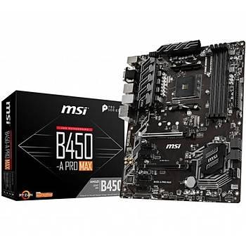 MSI B450-A PRO MAX DDR4 3466Mhz S+GL AM4 (ATX)