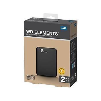 WD 2.5 2TB Elements WDBU6Y0020BBK Siyah