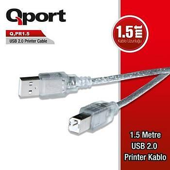 Qport Q-Pr1.5 Usb 2.0 1.5M Yazýcý Kablosu