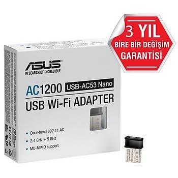 Asus USB-AC53 Nano AC1200 Kablosuz USB Adaptör