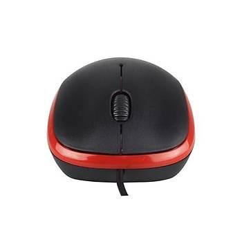 Havit MS851 Kýrmýzý-Siyah Kablolu Mouse