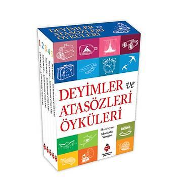 DEYÝMLER ve ATASÖZLERÝ ÖYKÜLERÝ SETÝ - (5 kitap kutulu) - Muhiddin Yenigün