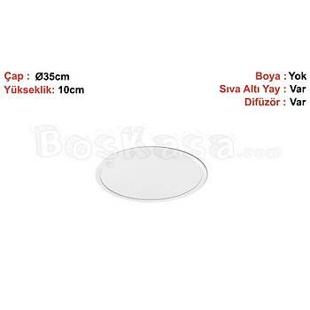 Davul (Çember) Aydýnlatma Sýva Altý Boþ Kasa / Çap : 35cm / Yükseklik : 10cm