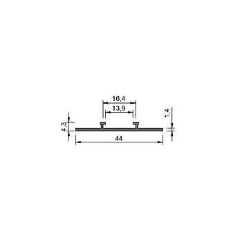 52mm Lineer Profil Aksesuar - Sürgülü Led Montaj Kýzaðý