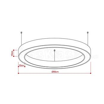 Halka (Simit) Aydýnlatma Boþ kasa / 90cm / Yükseklik : 10cm / Geniþlik : 10cm