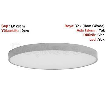 Davul (Çember) Aydýnlatma Sýva Üstü Boþ kasa / Çap : 120cm / Yükseklik : 10cm