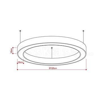 Halka (Simit) Aydýnlatma Boþ kasa / 120cm / Yükseklik : 10cm / Geniþlik : 10cm