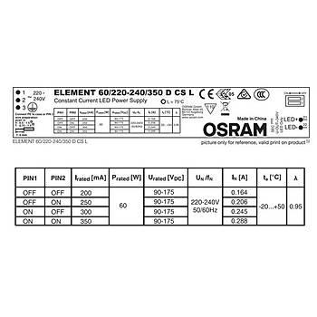 OSRAM ELEMENT 60/220…240/350 D CS L SABÝT AKIMLI LINEER TÝP LED SÜRÜCÜ
