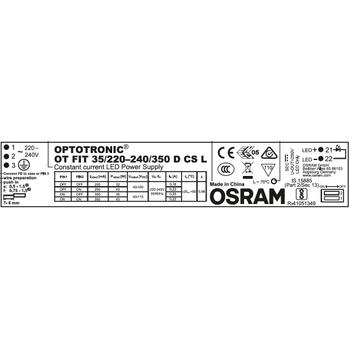 OSRAM OT FIT 35/220-240/350 D CS L SABÝT AKIMLI LINEER TÝP LED SÜRÜCÜ