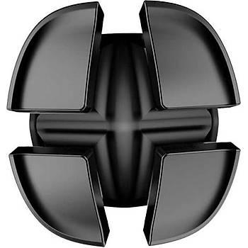 Baseus Cross Peas Cable Clip Kablo Düzenleyici Siyah
