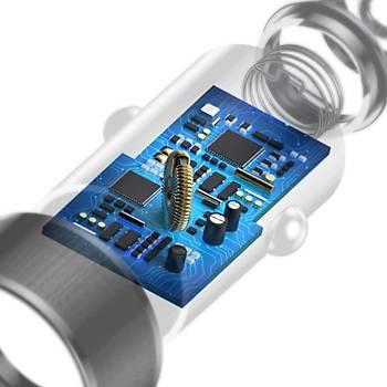 Baseus Small Screw 3.4A Çift Usb Type-C Hýzlý Araç Þarj Cihazý