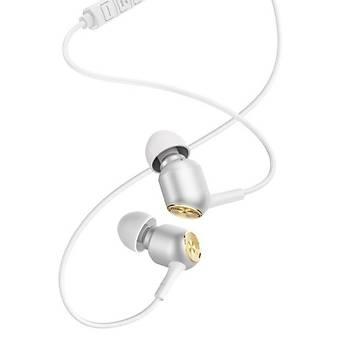 Baseus Encok Wire H02 Kulakiçi Mikrofonlu Kulaklýk Beyaz Gold