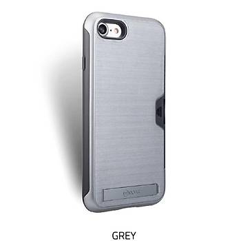 Roar Awesome Serisi Apple iPhone 7-8 Standlý+Kartlýklý Grey