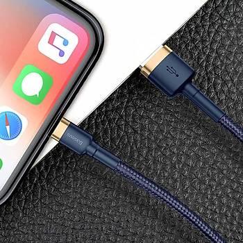 Baseus Cafule Serisi iPhone 2 M. 1.5A Data Þarj Kablosu Gold Blue