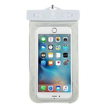 Baseus Waterproof Bag Su Geçirmez Telefon Çantasý Beyaz