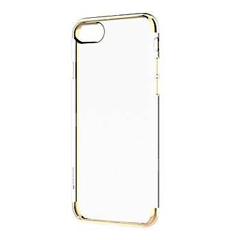 Baseus Shining Serisi iPhone 7 / 8 Kenar Korumalý Tpu Kýlýf Gold