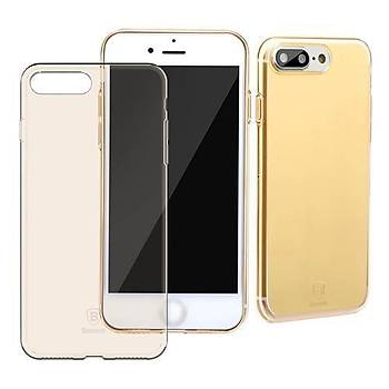 Baseus Slim Serisi iPhone 7 / iPhone 8 Transparan Kýlýf Gold