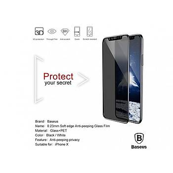 Baseus iPhone X/XS 5.8 0,23mm Tam Kaplayan Cam Ekran Koruyucu