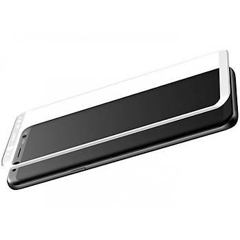 Baseus Galaxy S8 0,3mm 3D Kavisli Cam Ekran Koruyucu Beyaz