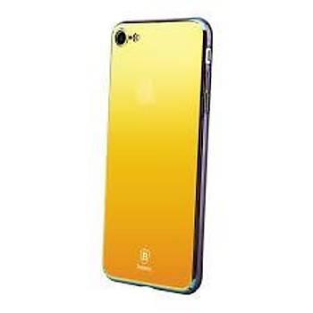 Baseus Glass Mirror Serisi iPhone 7 / iPhone 8 Aynalý Kýlýf Gold