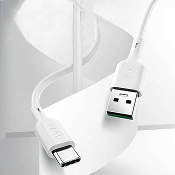 Benks D35 USB - Type-C Þarj ve Data Kablosu 1.2M 5A. Beyaz